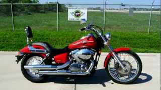 6. Review: 2007 Honda Shadow 750 Spirit Red with Flame Graphics