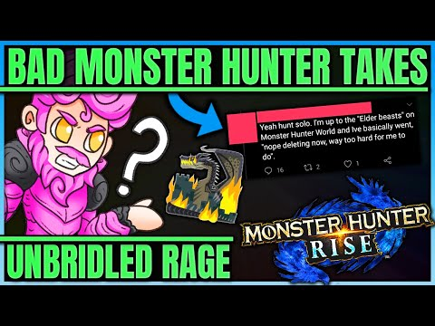 RISE IS JUST MINDLESS BUTTON MASHING - The Worst Hunters in Monster Hunter! (Iceborne/Rise/Fun)
