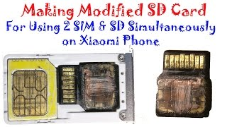 Video Making modified SD Card for using  2 SIM & SD Card Simultaneously in Xiaomi hybrid SIM slot MP3, 3GP, MP4, WEBM, AVI, FLV Juli 2018