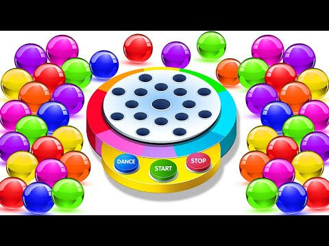 Dancing Balls On Finger Family Song | Fun Learning Videos by KidsCamp