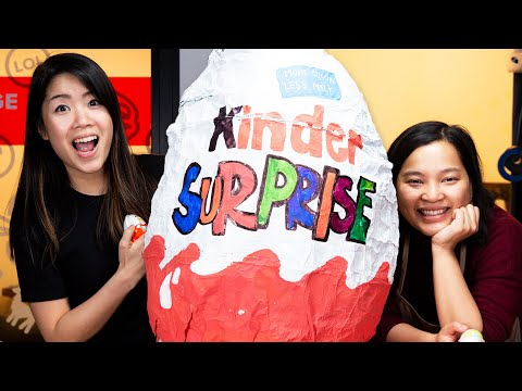 We Made A Giant Kinder Egg