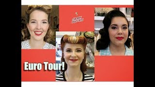 Vintage Hair & Makeup MAKEOVERS in Europe! by CHERRY DOLLFACE