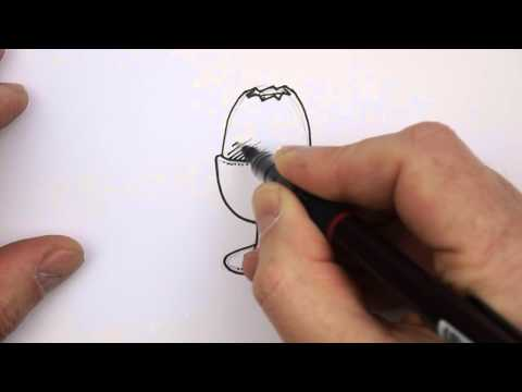 How to draw an Egg Cup Real Easy