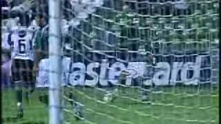 Brasileirão 2005 - Estádio Couto Pereira - Coritiba 0 x 2 Goiás - Gols do Verdão: Rodrigo Tabata (2x). Imagens: Globo.