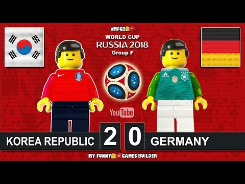 Korea Republic vs Germany 2-0 • World Cup 2018 (27/06/2018) All Goals Highlights Lego Football