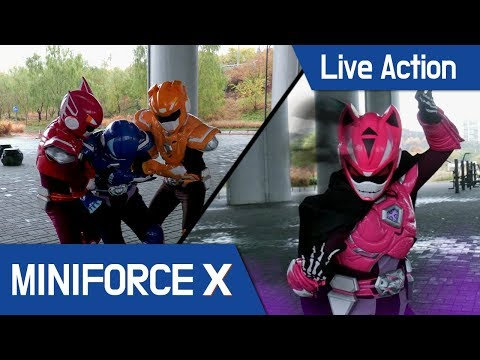 [MiniForceX] Live Action - Lucy changing a ghost / Miniforce vs ghost lucy