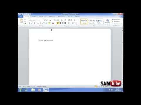 comment modifier curseur word