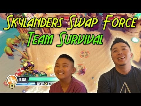 Skylanders swap force team survival mode chunky chompies sand