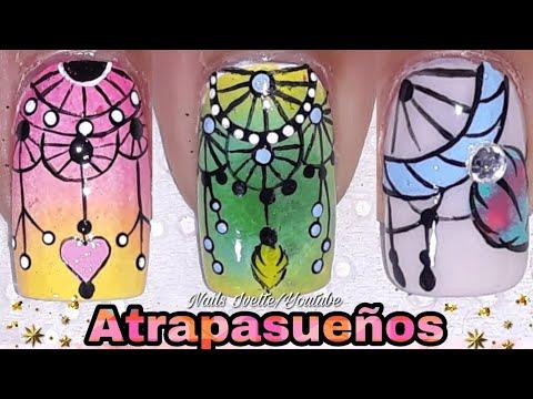 3 Diseños de uñas atrapasueños