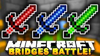 """Minecraft BRIDGES BATTLE """"HALF HEART!"""" #4 - w/ PrestonPlayz&Kenny"""