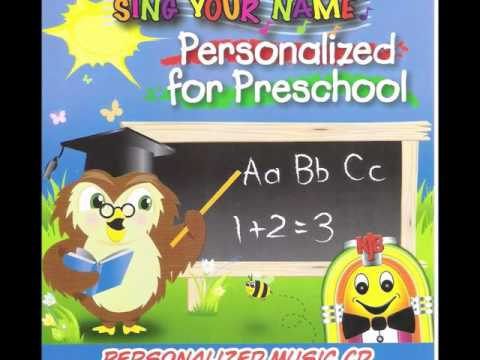 Personalized Music CD-Personalised for Preschool