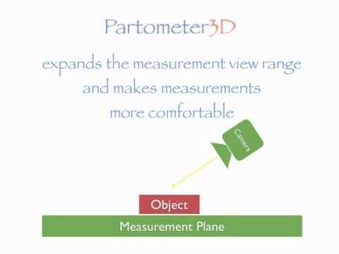 Video of Partometer3D - photo measure