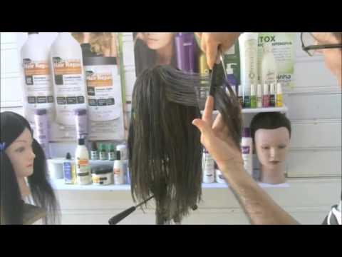 Corte de cabelo feminino a 45 graus