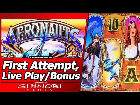Aeronauts Slot - First Attempt, Live Play and Free Spins Bonus