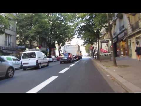 Cycling in Paris: Rue d'Auteuil _ Avenue Mozart _ Avenue Paul Doumer