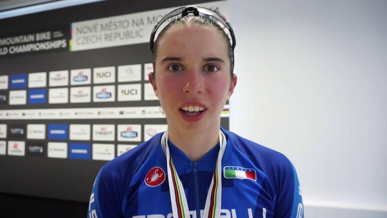 Martina Berta dopo aver conquistato il bronzo