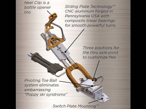 Features of the Bishop Telemark Ski Binding