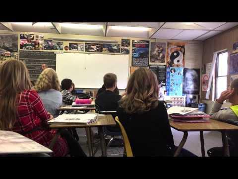 Teacher talks about fire in the classroom