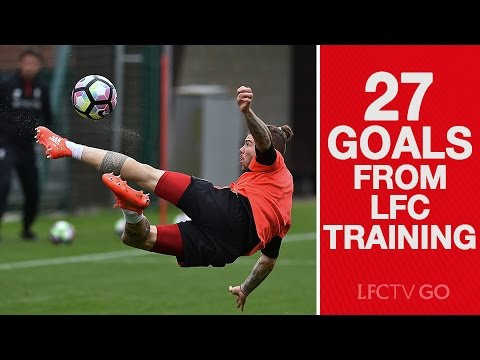 Video: 27 goals from Liverpool FC training