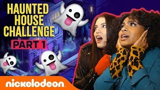 Video Daniella & Lilimar FREAK OUT in the Haunted House Challenge Pt. 1 👻 | Nick MP3, 3GP, MP4, WEBM, AVI, FLV Oktober 2018