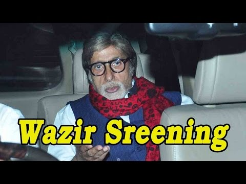 Amitabh Bachchan Catches A Special Screening Of Wa