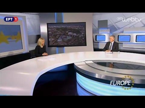 Ο Επικεφαλής της Ευρωπαϊκής Επιτροπής στην Ελλάδα κ. Πάνος Καρβούνης στην εκπομπή EUROPE (14/1/2017)