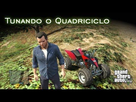 quadriciclo - Wiki do GTA: http://gta.wikia.com/Blazer Tunando o Quadriciclo - FAIL: http://youtu.be/O9tK9cop8Y4 Assistam em 1080p. VALE A PENA!!! O quadriciclo galera! Si...