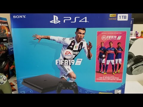PS4 SLIM EDICIÓN FIFA 19 UNBOXING