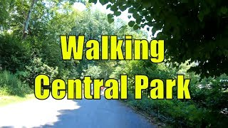 ⁴ᴷ Walking Tour of Central Park, NYC during Summer from 59th - 110th Streets
