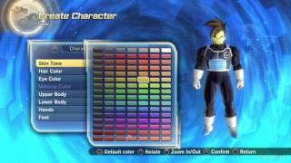 Editor per la creazione dei personaggi