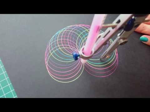 Geometric eye rainbow mandala
