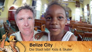 Belize - [3] Kids & Skater in Belize City