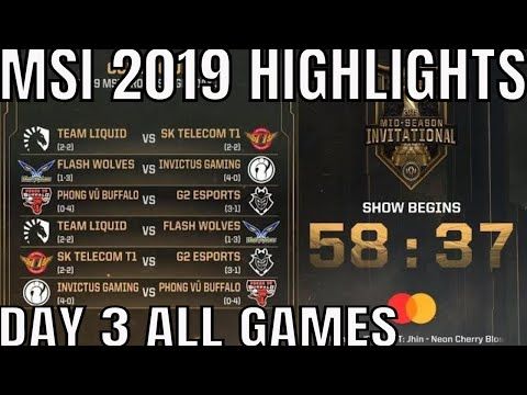MSI 2019 Highlights ALL GAMES Day 3 Group Stage - Mid Season Invitational 2019