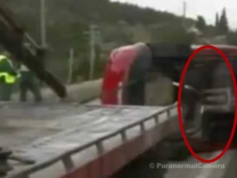 Real GHOST caught on tape after fatal car crash accident | Scary ghost on tape video 2012 / 2013