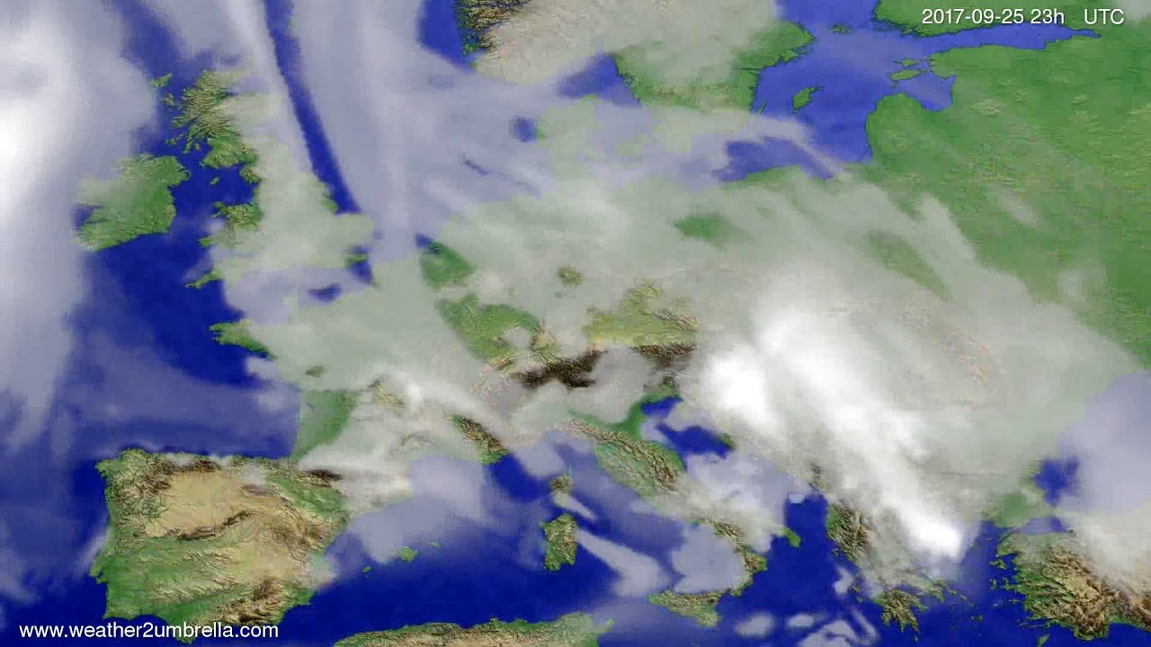 Cloud forecast Europe 2017-09-22