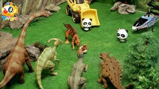 Video Super Panda Rescues Baby Dinosaur | Dinosaur Rescue Team | Kids Toys | Baby Doll Play | ToyBus MP3, 3GP, MP4, WEBM, AVI, FLV Desember 2017