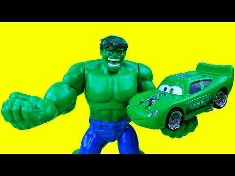 The Hulk & The Hulk Car McQueen save C-3PO from Mr. Freeze Lightning McQueen Cars Just4fun290