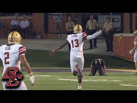 Boston College QB Anthony Brown Hits Jeff Smith For 71-Yard TD