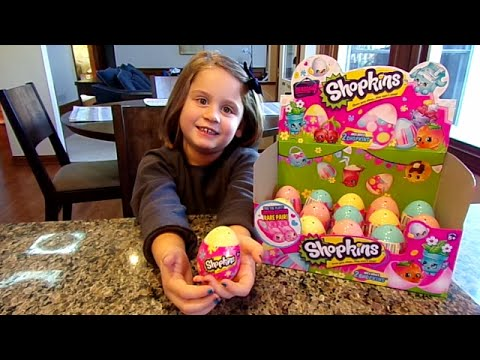 Shopkins Season 4 Surprise Eggs!!-Chloe's Toy Time (видео)