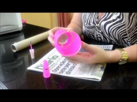 Copo de vidro com esmalte