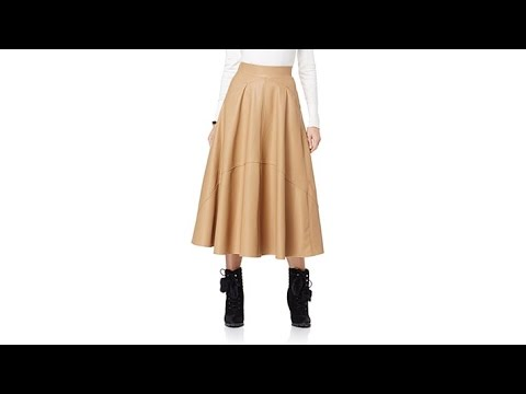 June Ambrose Faux Leather Maxi Skirt