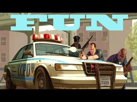 GTA 4 FUN - Patriot On Skatepark