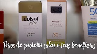 Tipos de protetor solar e seus benefícios