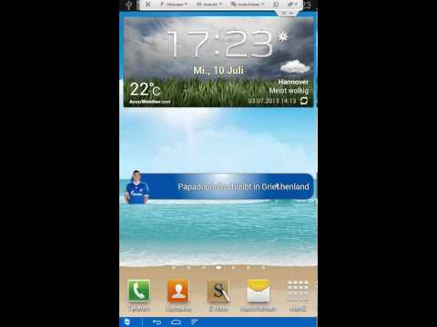 Video of Unofficial Schalke 04 Widget