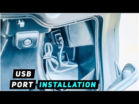 Piaggio Fly - USB Charger Installation in glovebox