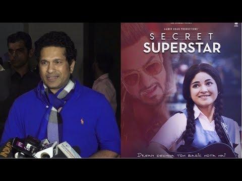 Sachin Tendulkar & His Family At Special Screening Of Film Secret Superstar