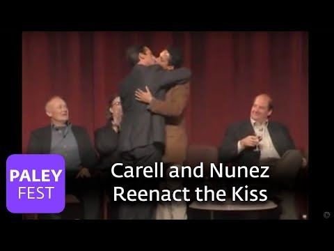 The Office - Carell and Nunez Reenact the Kiss