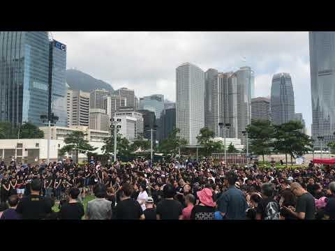 香港の歴史的な大規模デモ。その直前の様子…。〜 2019. 6. 16 香港 立法会大楼前 〜