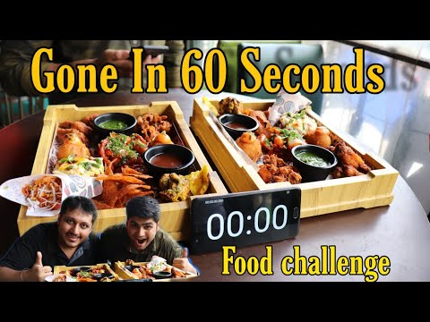 Monsoon Platter Eating Challenge | Gone in 60 Seconds | Food Challenge | Hmm Orignal