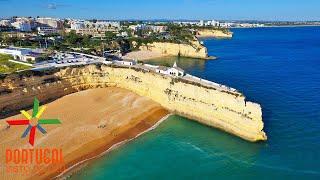Armacao de Pera Portugal  City new picture : Senhora da Rocha to Armação de Pera aerial view - Algarve - 4K Ultra HD